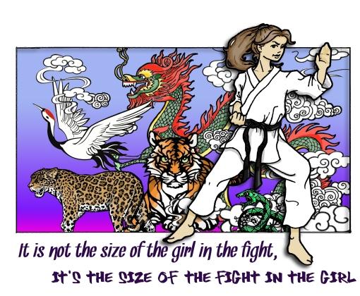 Karate Girl Design